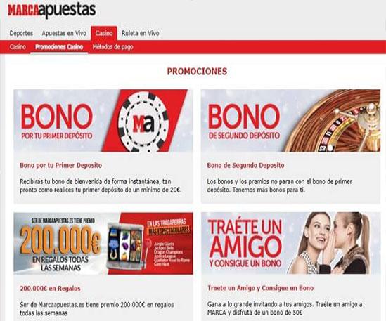 marca apuestas casino promociones