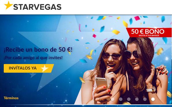 Bono de bienvenida Casino Starvegas del 100% por 200 euros