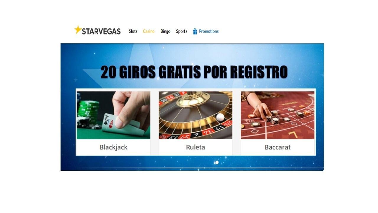 20 giros gratis Casino Starvegas